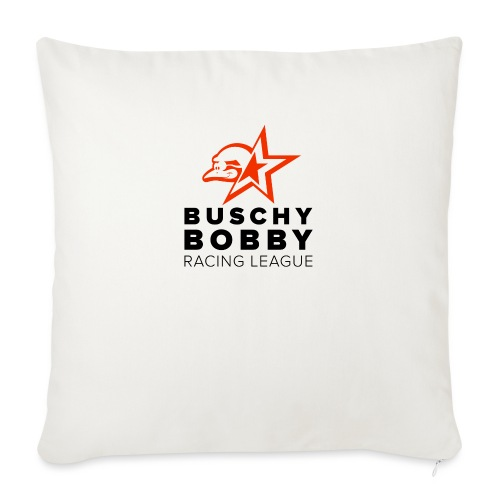 Buschy Bobby Racing League on white - Sofa pillow with filling 45cm x 45cm