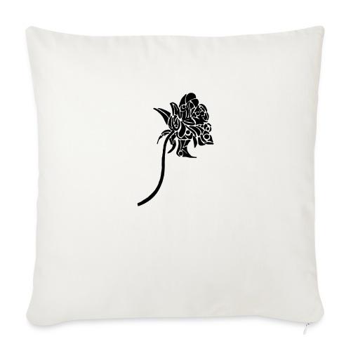 Rose tribal - Coussin et housse de 45 x 45 cm
