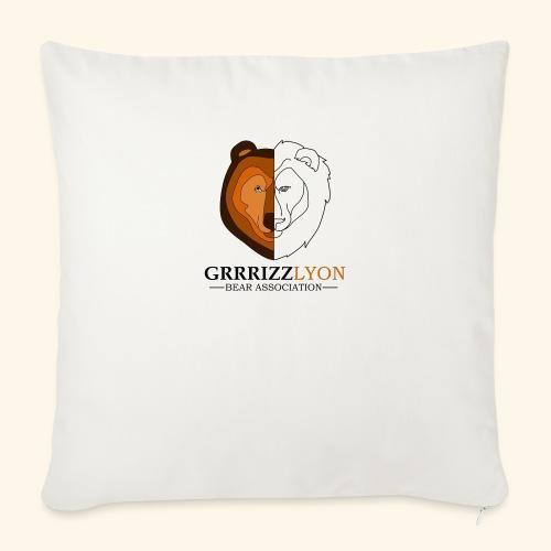 Grrrizzlyon - Coussin et housse de 45 x 45 cm