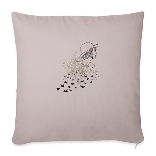 Mis dibujos - Cojín de sofá con relleno 44 x 44 cm