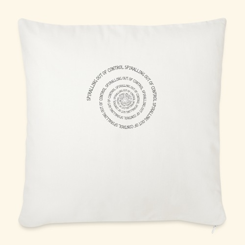 SPIRAL TEXT LOGO BLACK IMPRINT - Sofa pillow with filling 45cm x 45cm