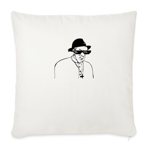 pope slaps woman meme - Cuscino da divano 44 x 44 cm con riempimento