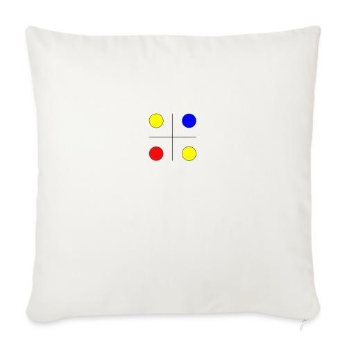 Arte mondrian inspiración colores - Cojín de sofá con relleno 44 x 44 cm