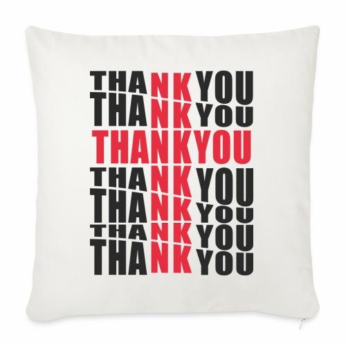 Motyw z napisem Thank You - Poduszka na kanapę z wkładem 44 x 44 cm