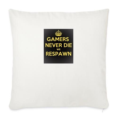 gamers never die we respawn 1 - Sofapude med fyld 44 x 44 cm
