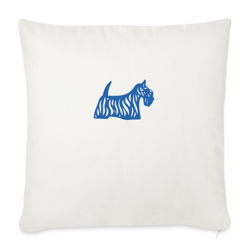 Founded in Scotland logo - Sofa pillow with filling 45cm x 45cm