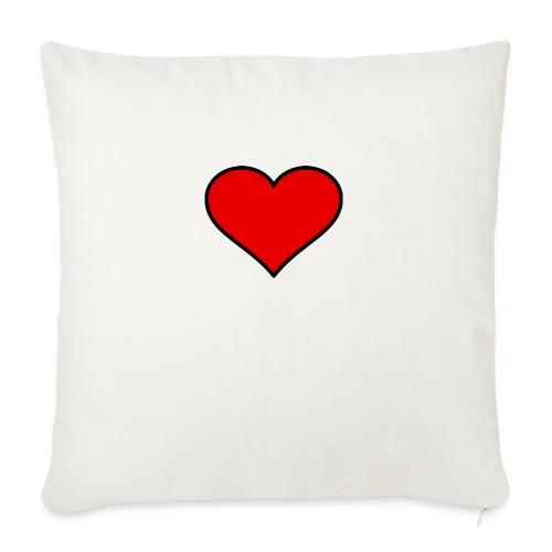 big heart clipart 3 - Soffkudde med stoppning 44 x 44 cm