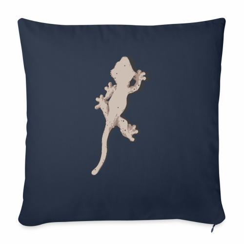 Crested Gecko - Sofakissen mit Füllung 44 x 44 cm