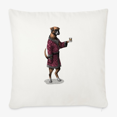 Boxer in a posh jacket - Sofa pillow with filling 45cm x 45cm
