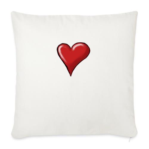 Love (coeur) - Coussin et housse de 45 x 45 cm