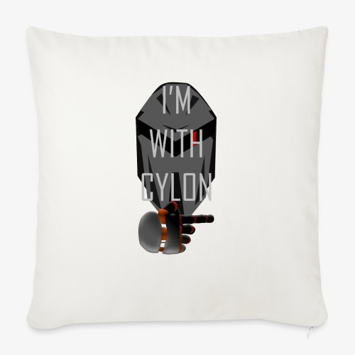I'm with Cylon - Sofapute med fylling 44 x 44 cm