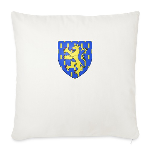 Blason de la Franche-Comté avec fond transparent - Coussin et housse de 45 x 45 cm