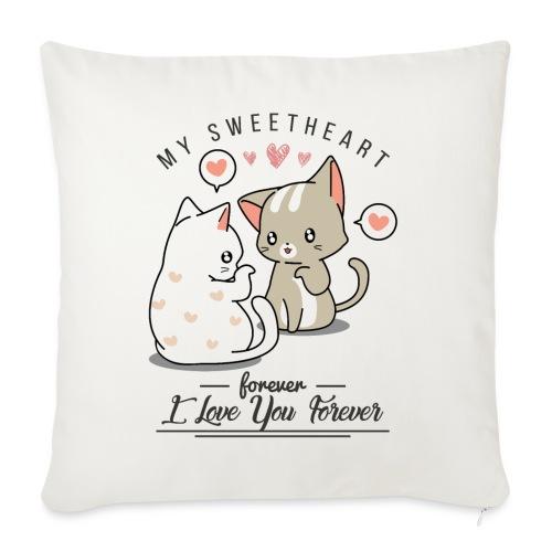 kotki - Poduszka na kanapę z wkładem 44 x 44 cm