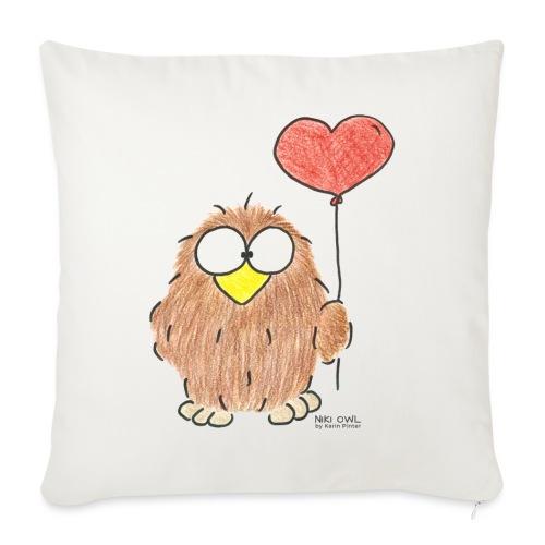 Niki Owl Amor/Love - Sofa pillow with filling 45cm x 45cm