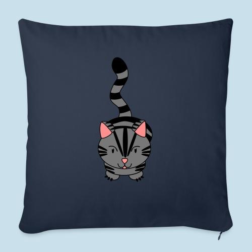 Miau Katze - Sofakissen mit Füllung 44 x 44 cm