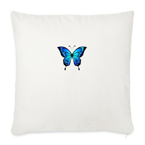 Blå fjäril - Soffkudde med stoppning 44 x 44 cm