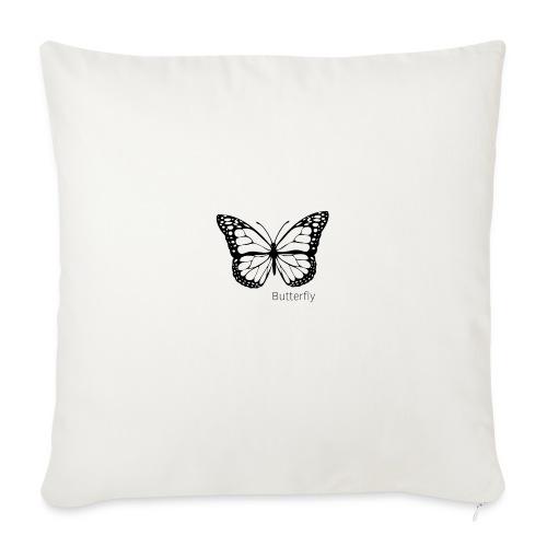 Butterfly white - Soffkudde med stoppning 44 x 44 cm