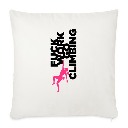 Go Climbing girl! - Sofa pillow with filling 45cm x 45cm