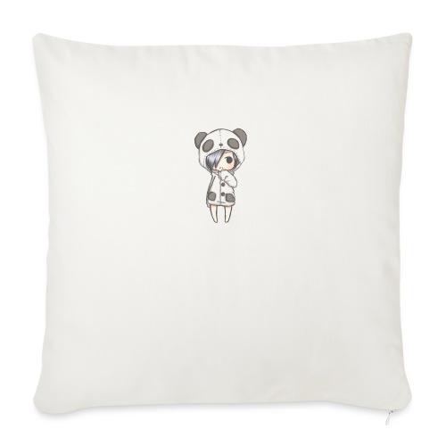 Cute girl panda - Sofa pillow with filling 45cm x 45cm