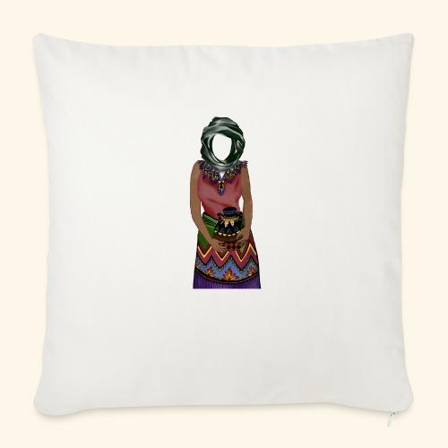 Femme avec jare - Coussin et housse de 45 x 45 cm