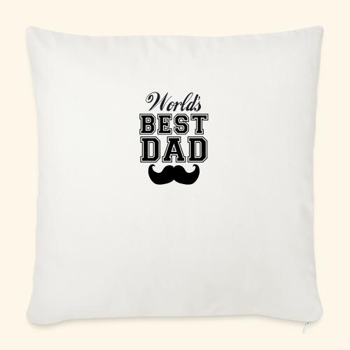 Worlds best dad - Sofapude med fyld 44 x 44 cm