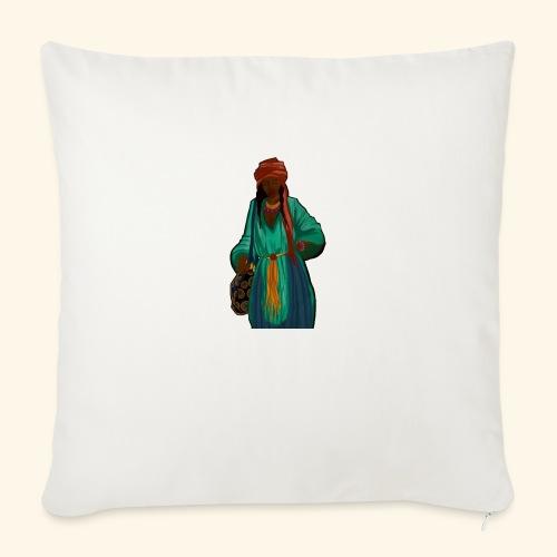 Femme avec sac motif - Coussin et housse de 45 x 45 cm