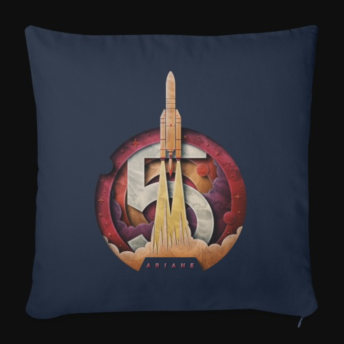 Ariane 5 - Lift off By Fugstrator - Sofa pillow with filling 45cm x 45cm