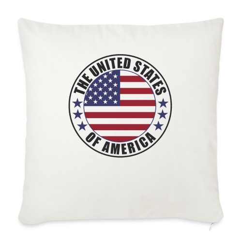 The United States of America - USA flag emblem - Sofa pillow with filling 45cm x 45cm