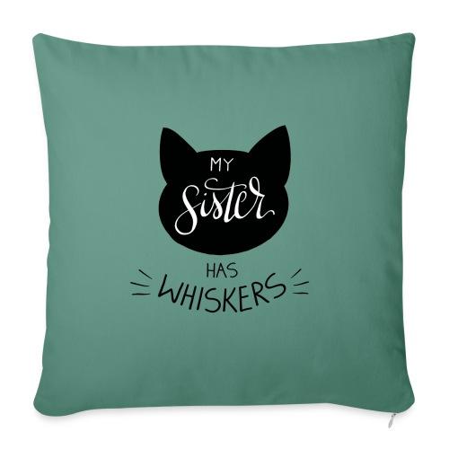 My Sister has Whiskers n°2 - Sofakissen mit Füllung 44 x 44 cm
