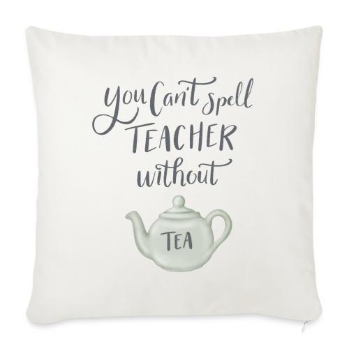 Tea teacher - Soffkudde med stoppning 44 x 44 cm
