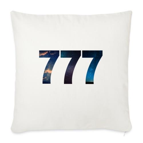 777 un nombre qui apporte chance et spiritualité - Coussin et housse de 45 x 45 cm