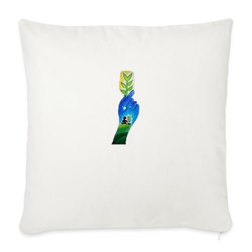 Strength nature love - Cojín de sofá con relleno 44 x 44 cm