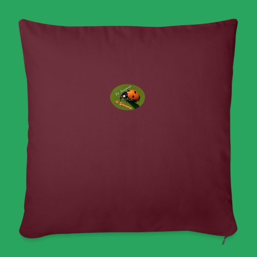 la scienza di Giacomo logo giusto tondo PNG - Cuscino da divano 44 x 44 cm con riempimento