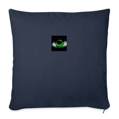Green eye - Sofa pillow with filling 45cm x 45cm