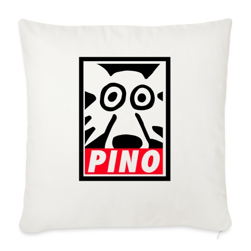 Pino Volpino OBEY style - Cuscino da divano 44 x 44 cm con riempimento