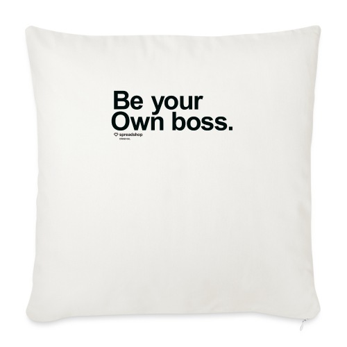 Boss in black - Sofa pillow with filling 45cm x 45cm