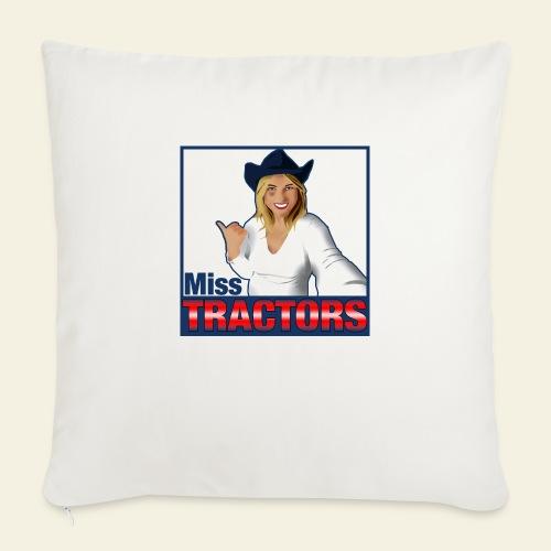 Miss Tractors Logo - Cuscino da divano 44 x 44 cm con riempimento