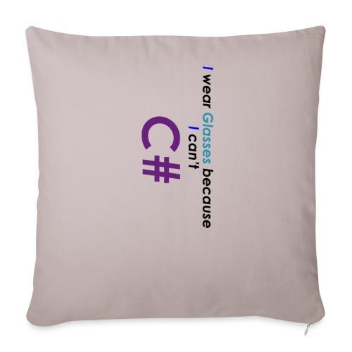 Can't C# - Cuscino da divano 44 x 44 cm con riempimento