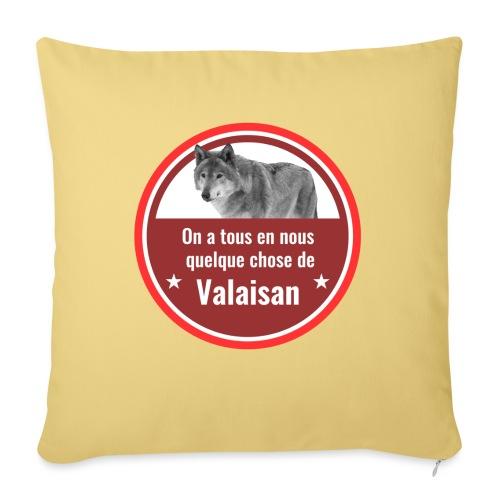 On a tous en nous qqch de Valaisan - Même le loup - Sofakissen mit Füllung 44 x 44 cm