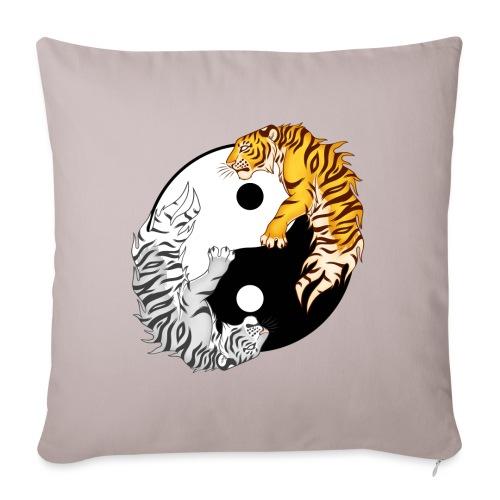 Yin & Yang Tigers - Poduszka na kanapę z wkładem 44 x 44 cm