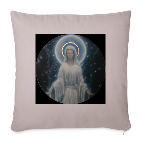 圣母玛利亚 Notre Dame by Jean Libon (Noir) - Coussin et housse de 45 x 45 cm
