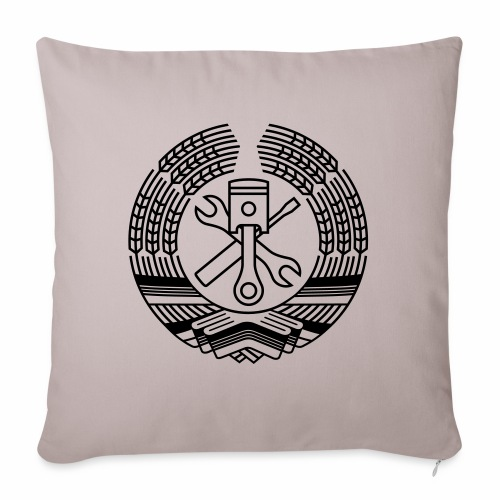DDR Tuning Coat of Arms 1c (+ Your Text) - Sofa pillow with filling 45cm x 45cm