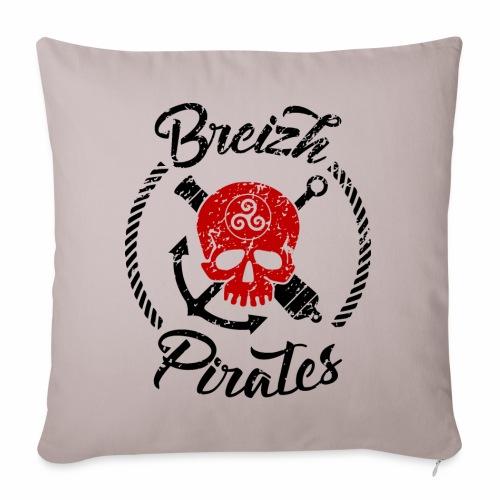 Breizh Pirates Usé - Coussin et housse de 45 x 45 cm