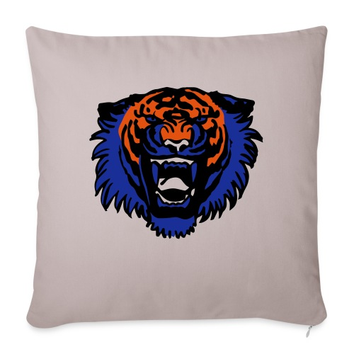 Roaring Tiger Three Colours by Cheerful Madness!! - Sofa pillow with filling 45cm x 45cm