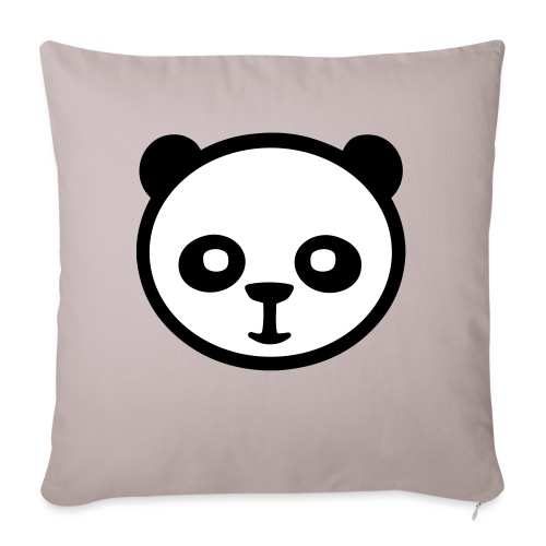 Panda, panda géant, panda géant, ours en bambou - Coussin et housse de 45 x 45 cm