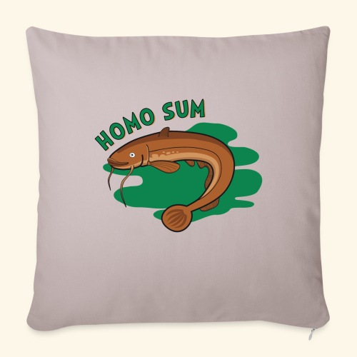 Homo sum ;) - Poduszka na kanapę z wkładem 44 x 44 cm
