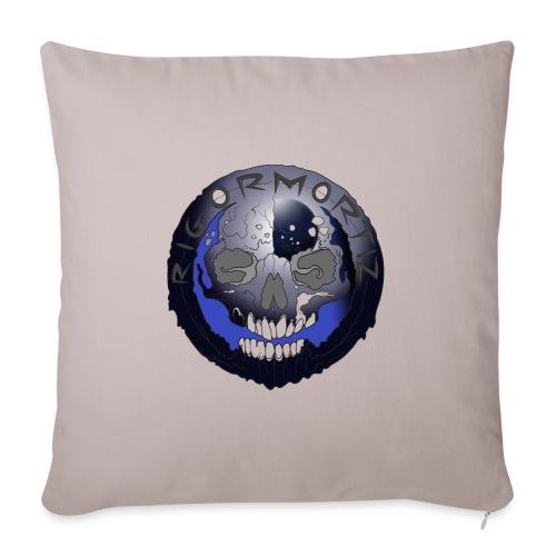 Rigormortiz Metallic Blue-Black Design - Sofa pillow with filling 45cm x 45cm