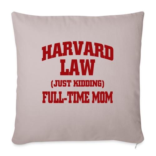 harvard law just kidding - Poduszka na kanapę z wkładem 44 x 44 cm