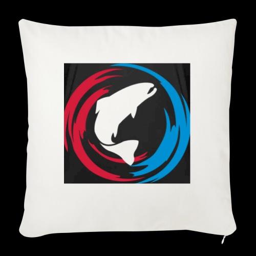 Logo Fisk - Soffkudde med stoppning 44 x 44 cm