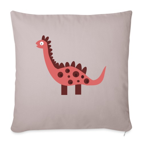 Dino pink - Sofa pillow with filling 45cm x 45cm